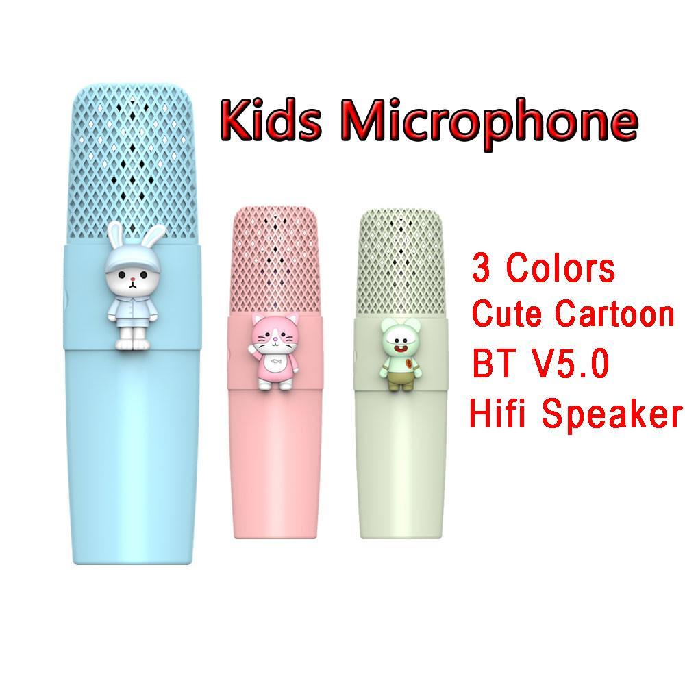Sans fil Bluetooth 5.0 Handheld K9 Microphone Enfants HIFI 360 Haut-parleur stéréo avec voix magique pour enfants cadeau de Noël avec boîte
