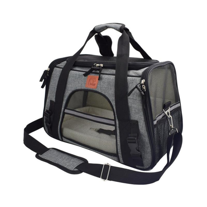 Перевозчик для собак Travel Cat Coat Board Дышащий автомобильный сиденья собака носителей для маленького щенка Безопасность Светоотражающая портативный Pet Handbage Q1224