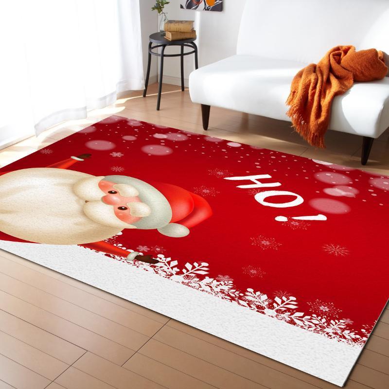 Noël Santa Snowflake tapis Chambre à coucher Chambre Chambre Couverture de chevet pour salon Cloakroom Tapis Chambre à coucher Décor