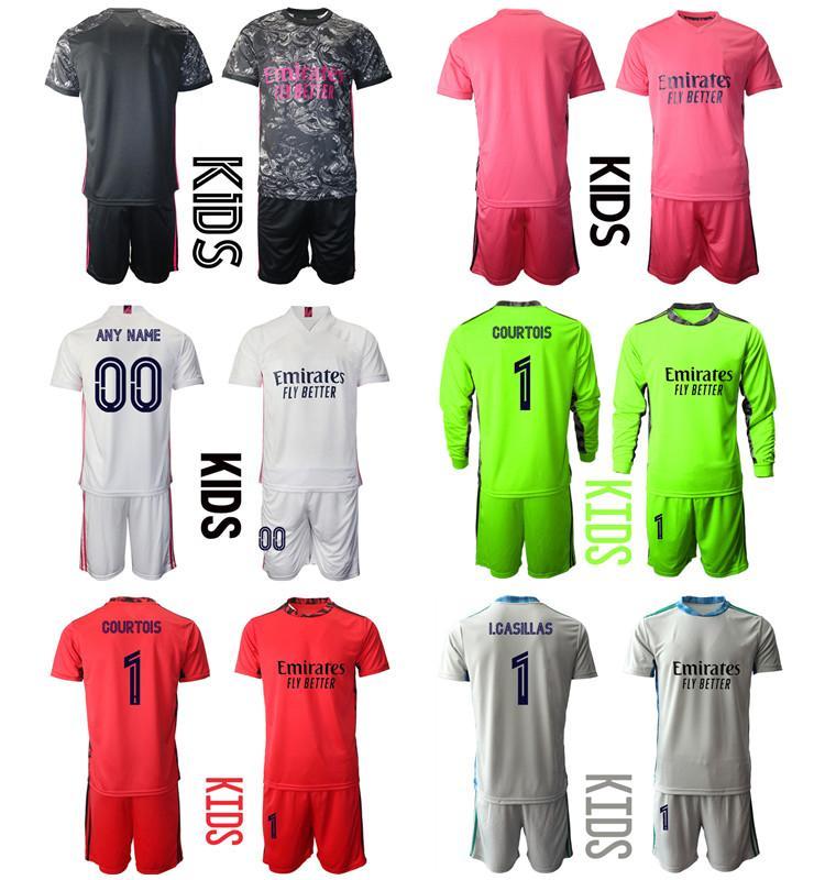 2021 La Liga Camisa de Futbol Özel Çocuk Kiti Üniforma Setleri 9 Benzema 4 Sergio Ramos 7 Tehlike 22 ISCO 10 Modric 8 Kroos Erkek Eğitim Futbol Forması
