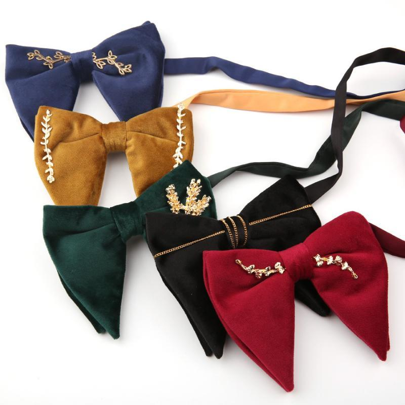 Шея галстуки 2021 взрослых Cravats Большой лук для женщин Мужчины Микро замшевые Свадебные Groomsman Bowtie Solid Butterfly Gravatas Para Homens