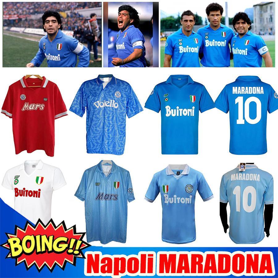 2020 2021 Serie A Naples Napoli Retro DIEGO Maradona 축구 유니폼 20 21 86 87 88 89 91 93INSIGNE 키즈 키트 Camiseta 축구 셔츠 Soccer Jerseys