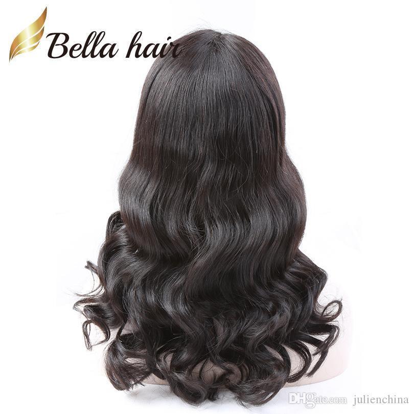 Brasileiro Virgem Humano cabelo perucas dianteiras perucas de renda completa com cabelo de bebê onda solta ondulada para mulheres negras Bella cabelo