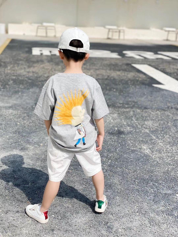 Cartoon Children T-shirt Summer baby Boys Girls Tees Tops Unisex Cotton Fashion kids Short Clothing Tops