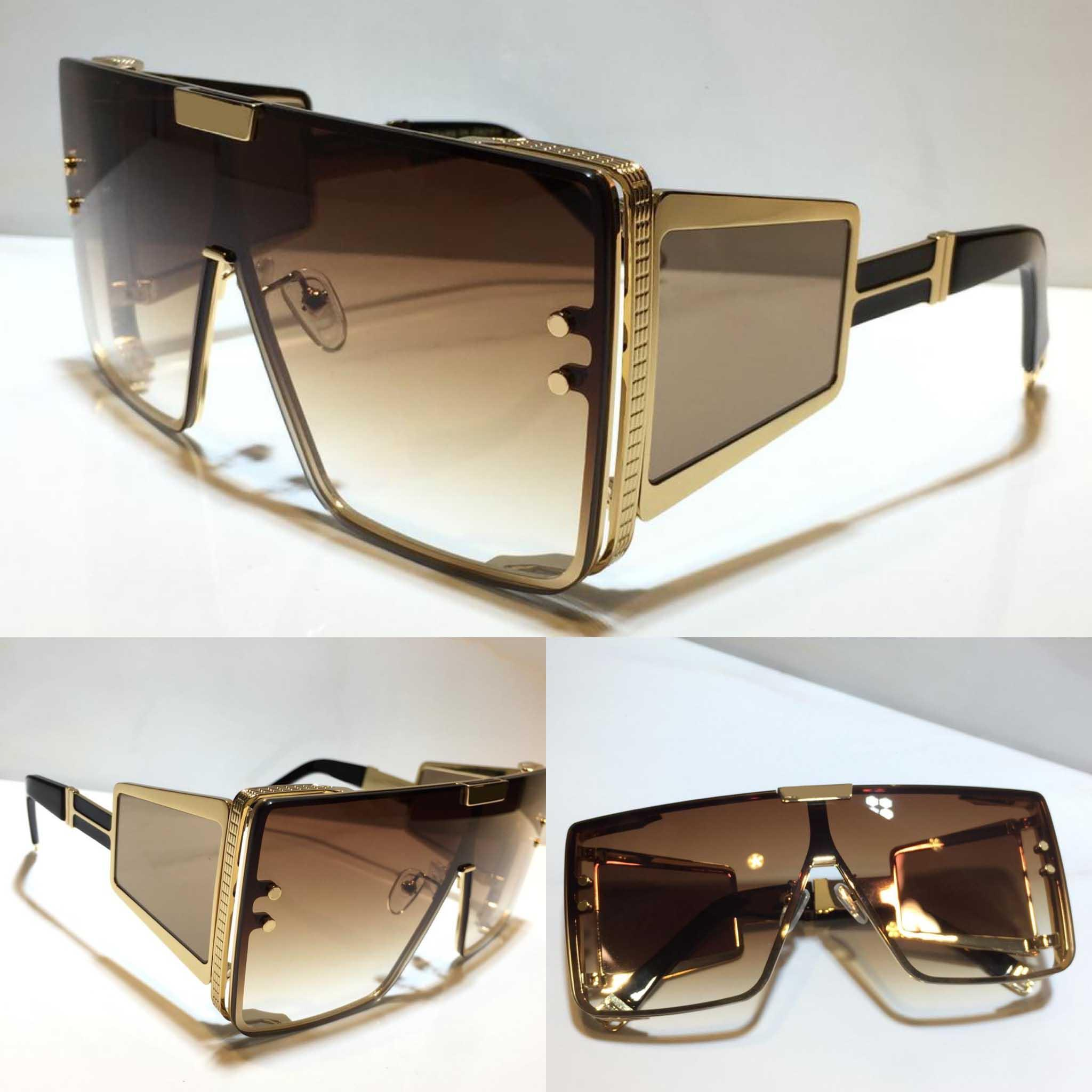 102 nuevas gafas de sol de moda con protección UV para hombres y mujeres Marco cuadrado vintage popular de alta calidad vienen con estuche 102 gafas de sol