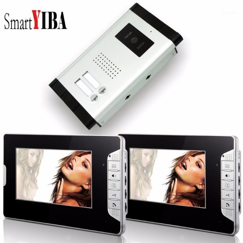 "Smartyiba 7 ""Kablolu Daire Video Güvenlik Kapı Telefonu Eller-Bedava Video Kapı Giriş Telefon İnterkom Sistemi Ev / Flat1"