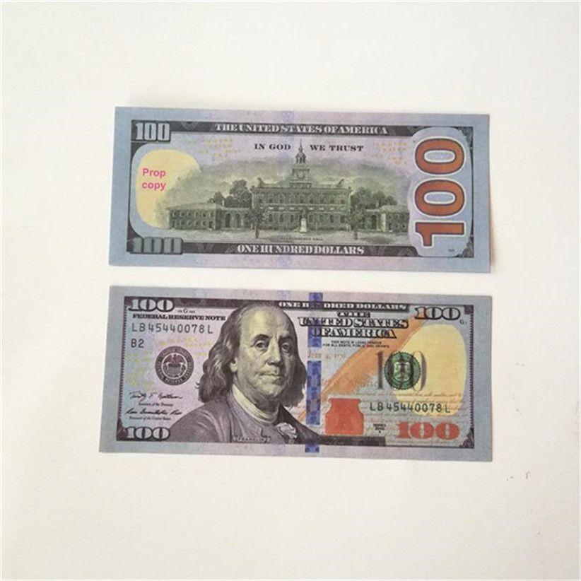 2020 Vente chaude Moderne Moderne USD 1/5/10/20/50/100 Copier de papier Banknote PROP ARGENT EURO 100 PCS / PACK 43