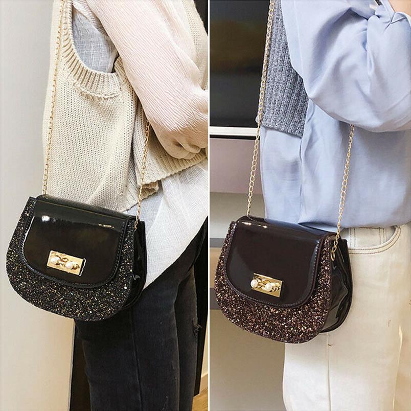 Hot Sale 2020 Summer Brand Bags Women Leather Handbags Small Women Messenger Bag Black Shoulder Bag Party Lock Purse