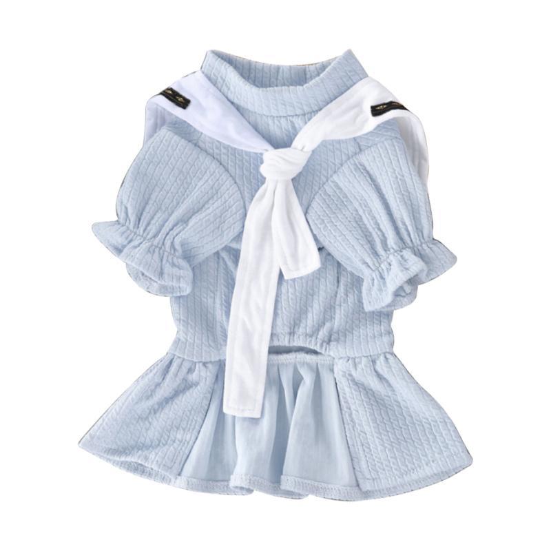 Chien d'été vêtements robe de la marine animaux domestiques chat chihuahua robe de mariée jupe vêtement vêtements robes de printemps pour chiens vêtements pour animaux de compagnie