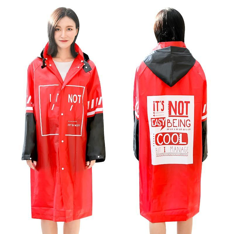 Yağmurluklar Yetişkin Yağmurluk Kadınlar Kırmızı Uzun Yağmur Panço Açık Hiking Su Geçirmez Ceket Çift Kalınlaşmak Plastik Suit geçirimsiz Hediye