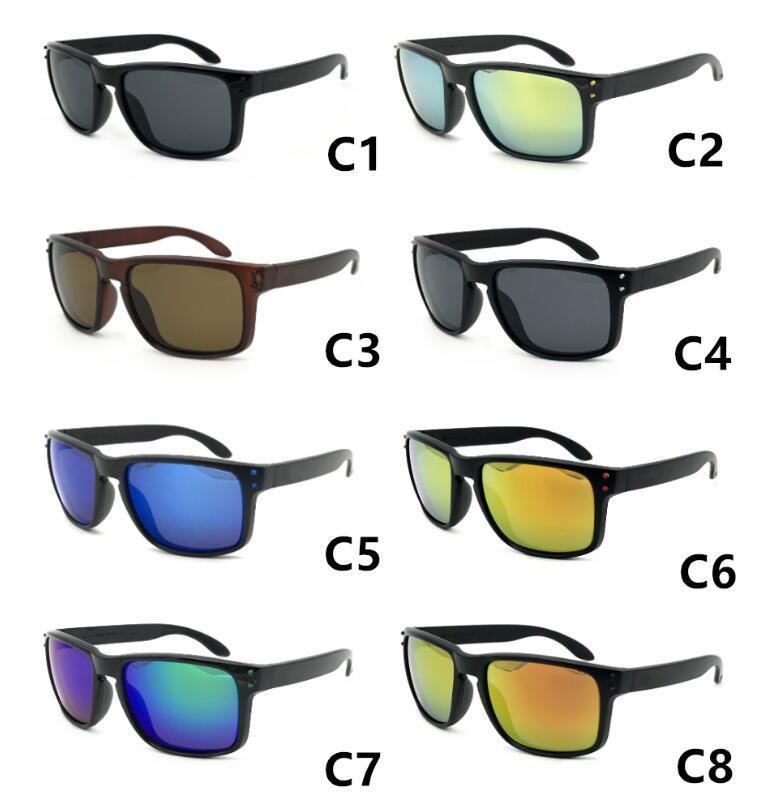 حار بيع رخيصة النظارات للرجال الرياضة الدراجات نظارات الشمس des blasses النظارات الشمسية انبهار لون المرايا نظارات 18 ألوان