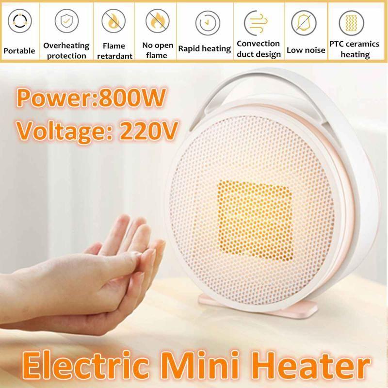 220V 800W Tragbare Büroöhe Mini Elektrische Heizgeräte Elektrische Haus Heizung Fan Handy Luftwärmer Silent Home Office Handy ~ Heizung