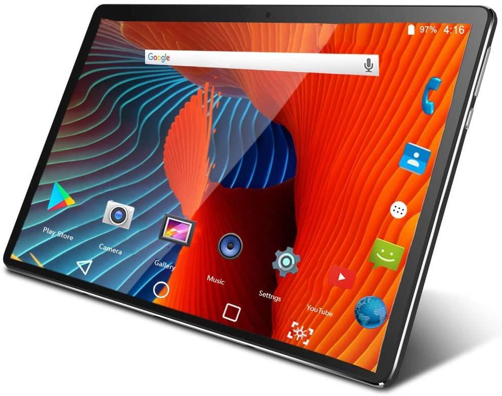 Tablet 10.1-дюймовый Android 9.0 четырехъядерный с двойными SIM-картами Слоты для карт поддержки телефонного звонка 5MP + 2MP Двойные камеры 2G RAM 32G ROM