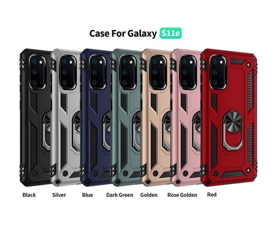 Pour Samsung S20 S20Plus Bague en métal S20 Coque Rorate Couverture Galaxy Note 10 S10 A10E A20E A30S A10S A20SS