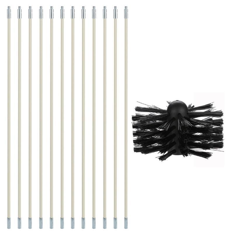 Chimney Boiler Nylon Brush Dryer Duct Ferramenta Kit para uso doméstico e industrial 201214