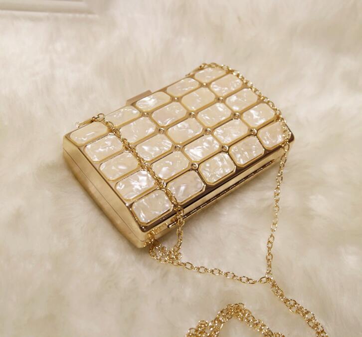 Красота Акриловый блок плещевой ужин Party Sumbag Brach Arm небольшие квадратные сумки изысканные элегантные мода сумка леди сумка