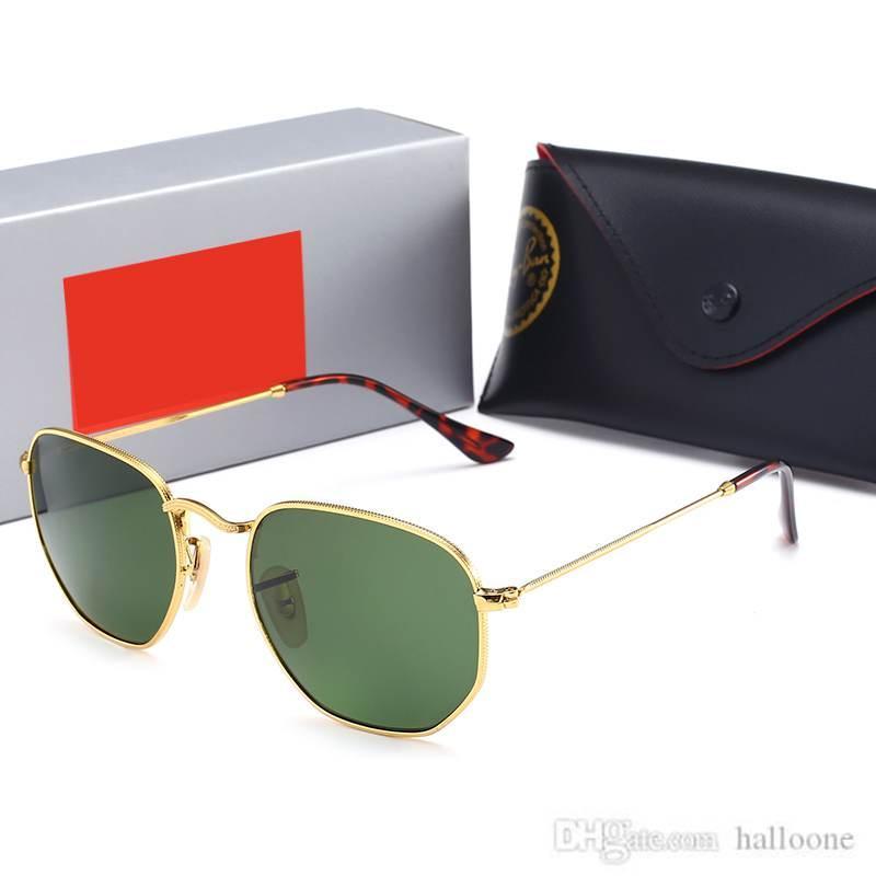Sıcak Luxurys Tasarımcı Marka Moda Erkekler Pilot Güneş Gözlüğü UV400 Açık Spor Vintage Kadın Güneş Gözlüğü Gözlük Cam Lens Kutusu ve Kılıflar Ile