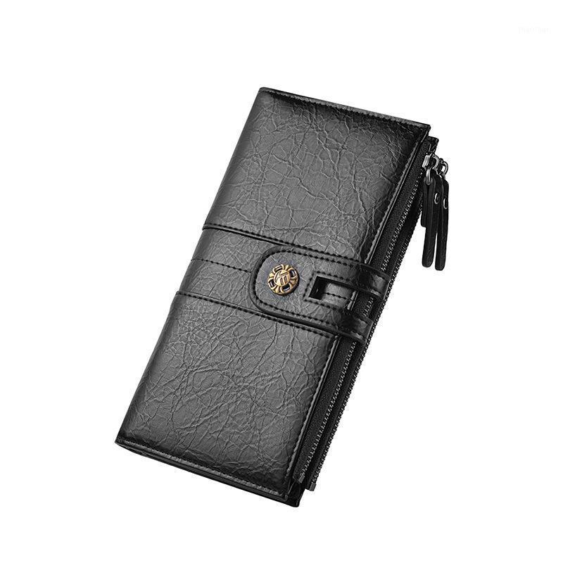 Portefeuilles Arrivée Portefeuille PU Pu Long Long Retro Sac à main Boucle Boucle Porte-Porte-Portefeuille Pochette de téléphone portable W61