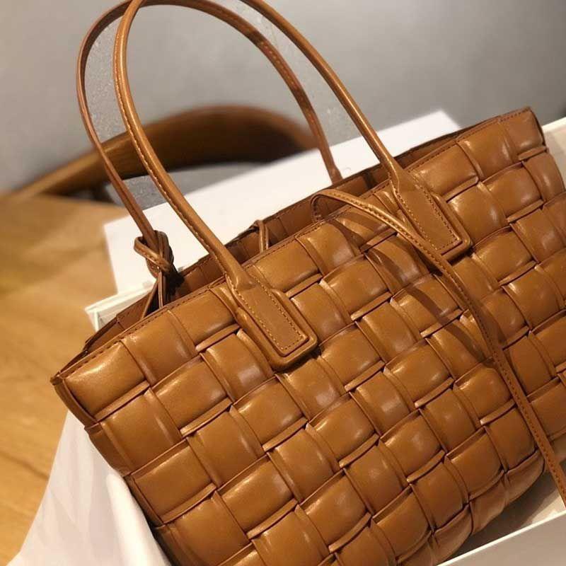 Сумки сумка сумка Crossbody качество кожаное плечо настоящий чехол мягкий подлинный шоппинг высокий тоталь тканые женщины Kanhl