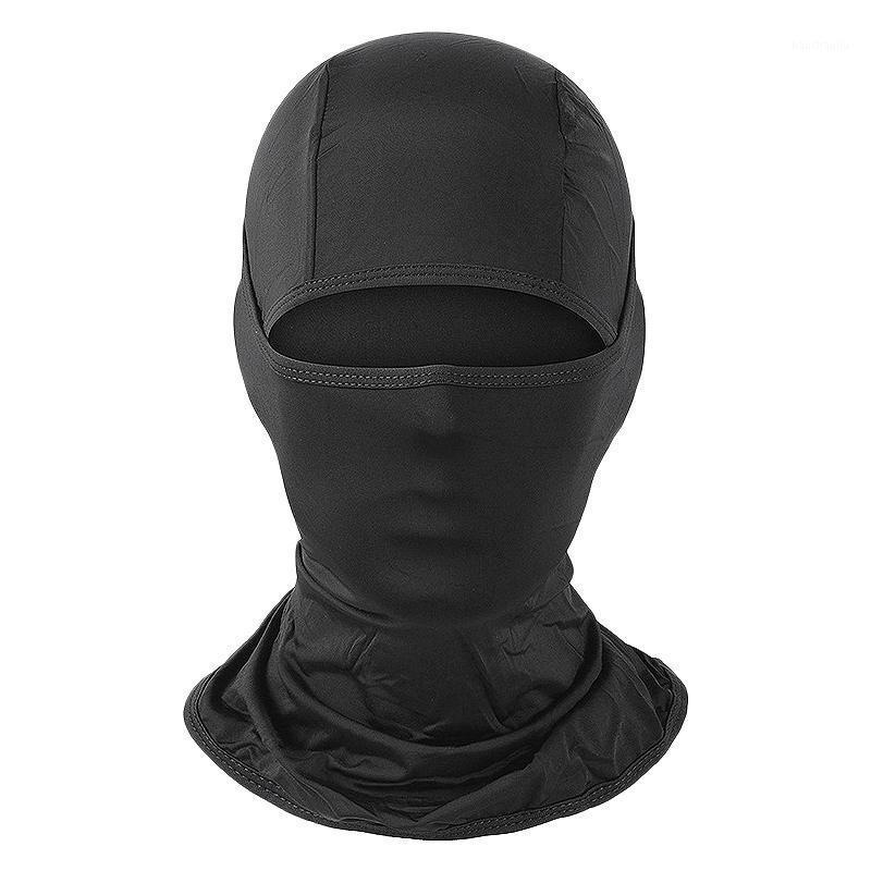 Gesichtsmaske UV-Schutz für Männer Frauen Ski Sonnenhaube Masken, Radfahren Wandermaske Black1