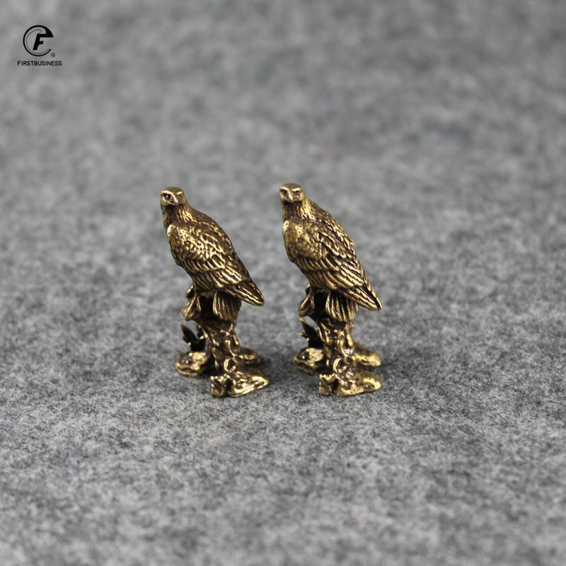 Decorative Objects & Figurines Antique Copper Decorations Desk Ornament Eagle Miniatures Pure Statue Home Crafts Collection