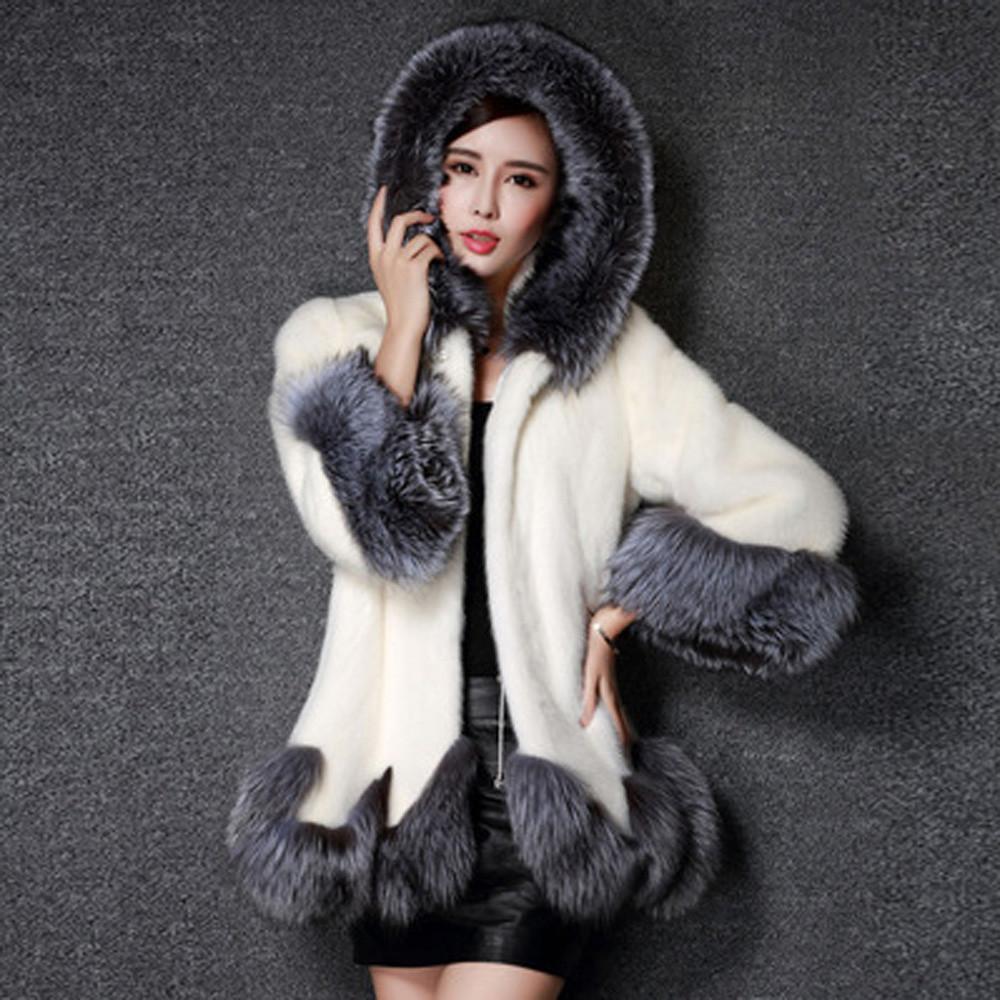 Cappotto di pelliccia di pelliccia di pelliccia di volpe manica lunga per maniche lunghe cappotto di pelliccia e piumino 2020 giacche da donna inverno