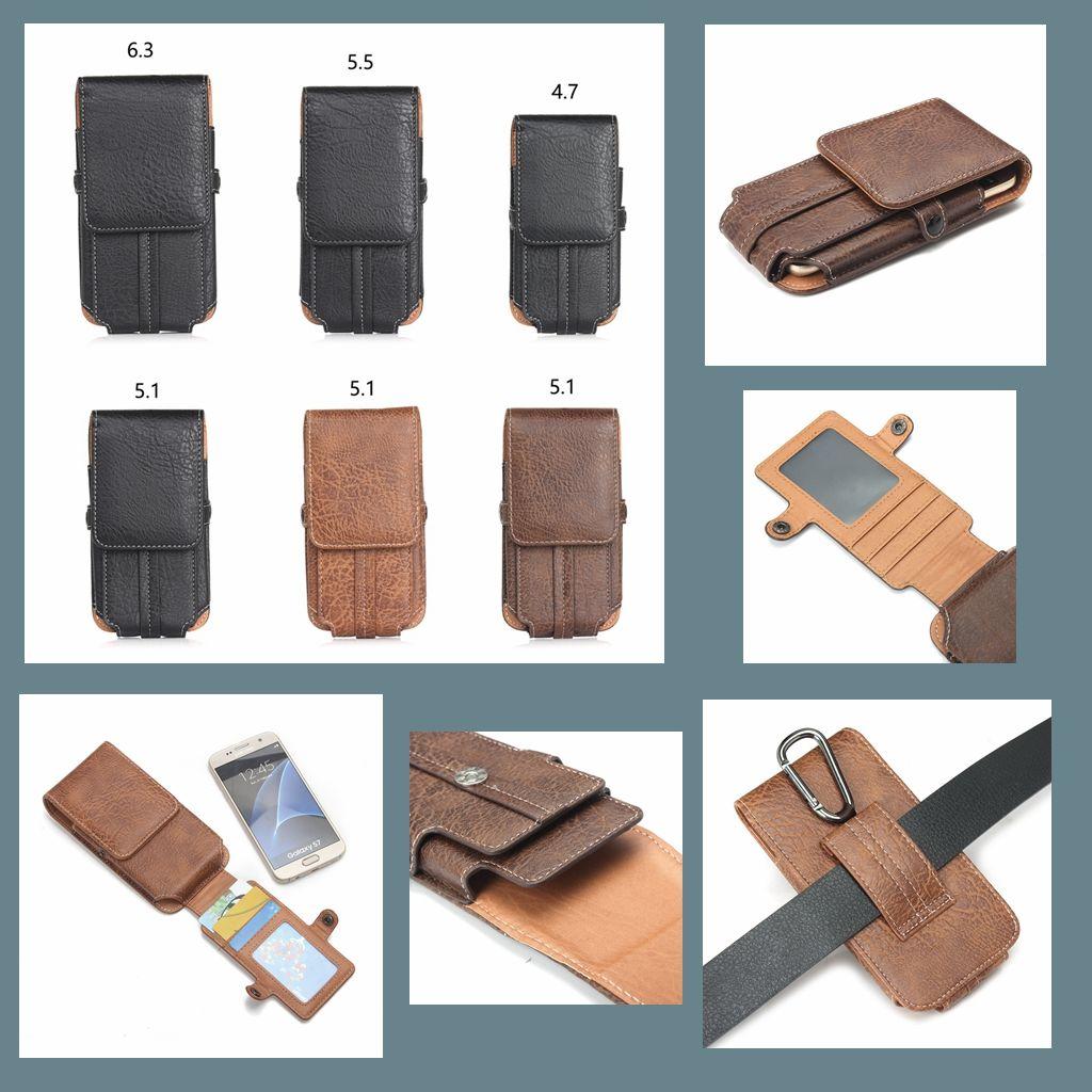 Novo para iPhone 12 mini 11 pro máx x xs xr xs max 7 7p 8 8Plus 6s montanhismo foto moldura cartão slot saco de cintura capa de couro capa de telefone