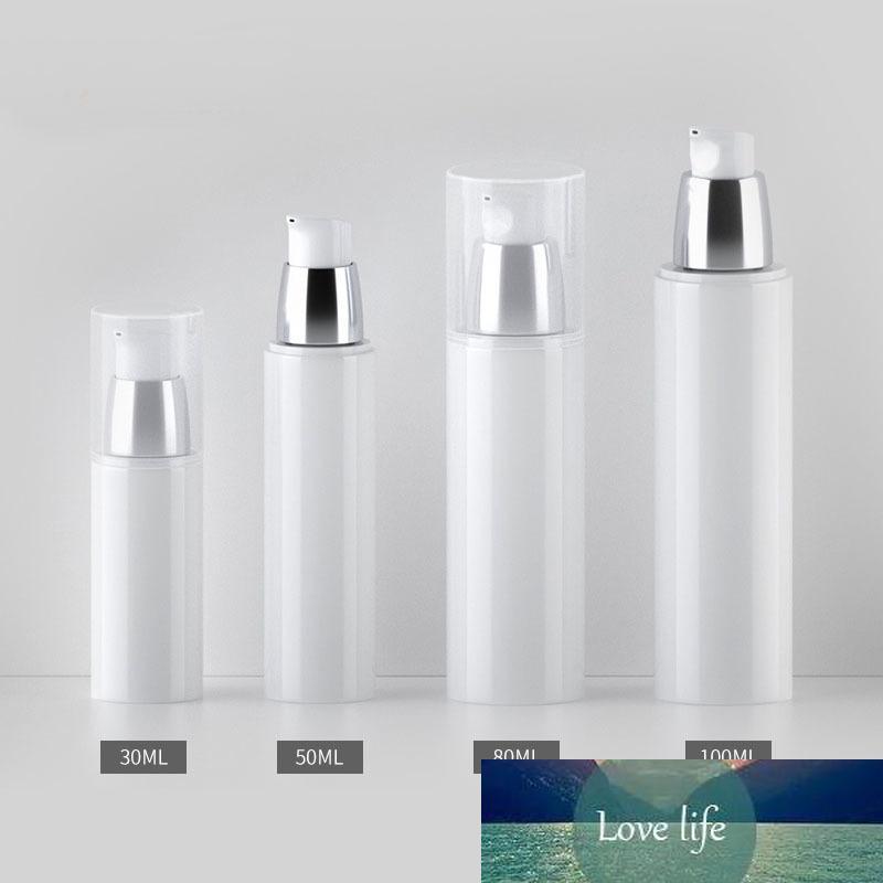 30ml 50ml 80 ml 100 ml weißer kosmetischer creme container leer lotion pumpe airless flasche make-up emulsion nachfüllablage vakuumflaschen