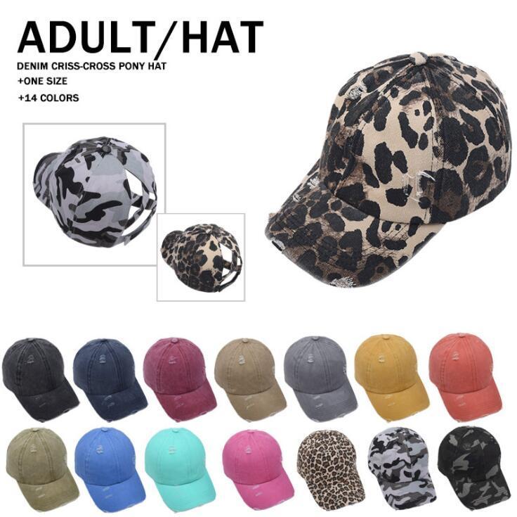 At Kuyruğu Beyzbol Caps Dağınık Bun Şapka Pamuk Trucker Yaz Snapback Şapka Spor Hip Hop Parti Şapkası Açık Güneş Cap FWB3046 Caps