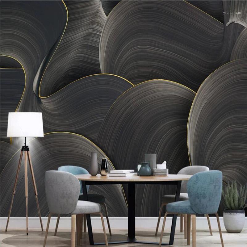 Drop Shipping Benutzerdefinierte 3D Wallpaper Wandbild Handgemalte Abstrakte Kunst Geometrische Tapete Wohnzimmer Wand Hintergrund Wandbild1