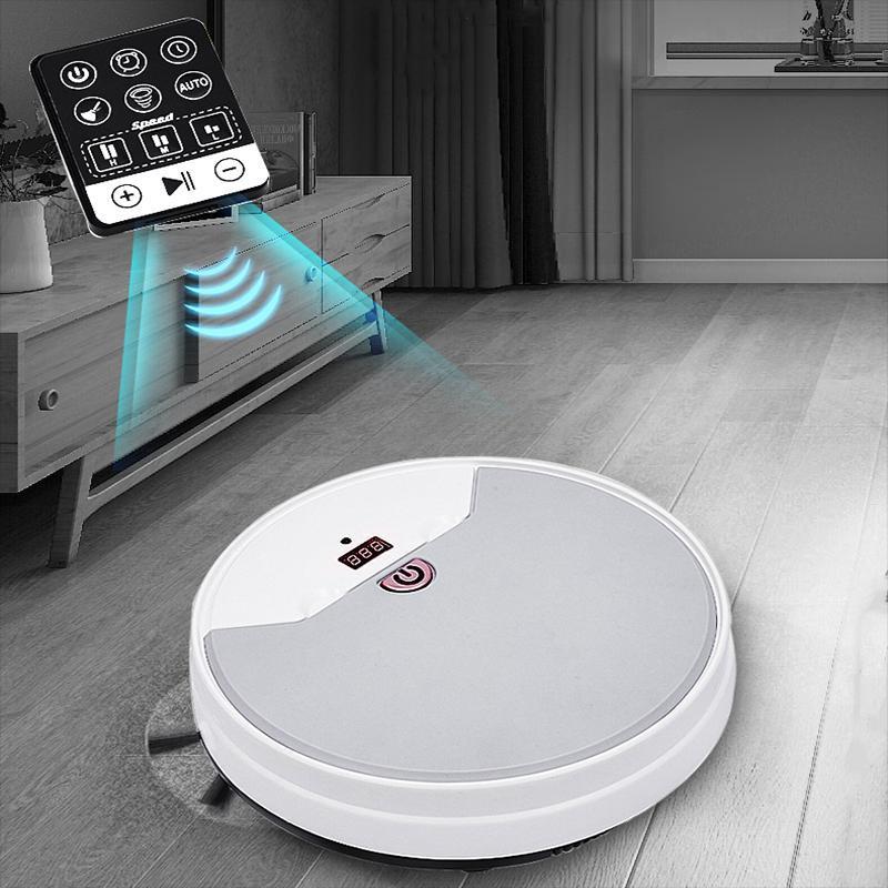 Новый робот вакуумный очиститель USB зарядка с дистанционным управлением водяной резервуар для подметания всасывания всасывание может быть зарезервировано три скорости
