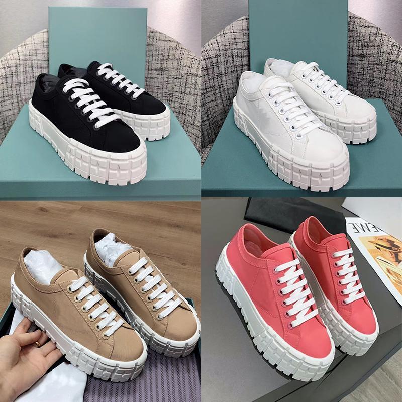 새로운 휠 카세타 플랫폼 스니커즈 여성 디자이너 신발 두꺼운 평면 레이스 업 패브릭 캐주얼 신발 고품질 야외 트레이너 261