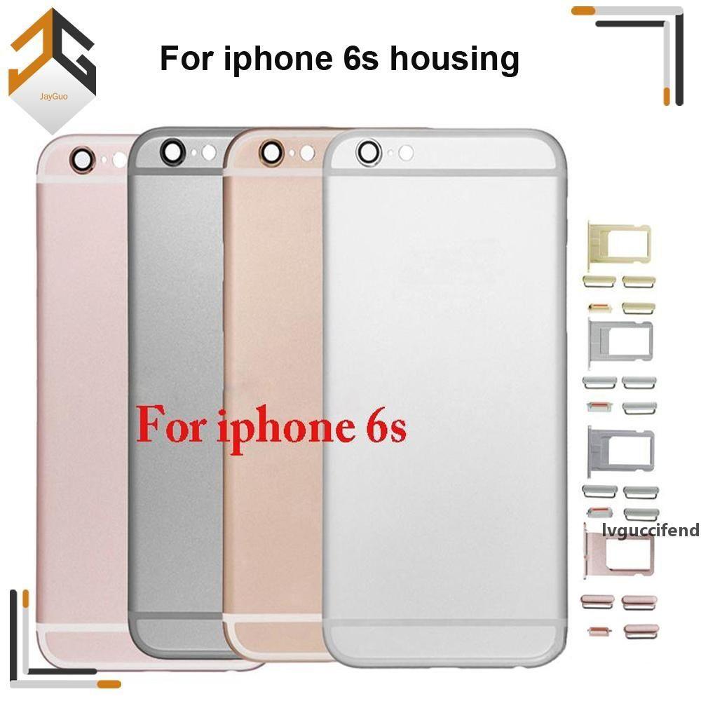 Para o iPhone 6S Back Habitação Metal Frame Substituto para iPhone 6S Plus Tampa da porta da bateria Capa traseira Chassis Frete grátis