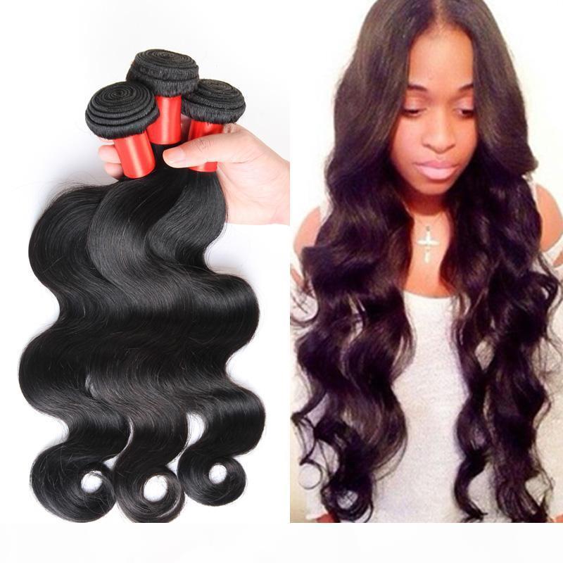 Prom Queen Hair Products 3bundles Lot Brasilianisches Reines Haar Körperwelle Unverarbeitete menschliche Haare Webart Bündel Brasilianische Körperwelle