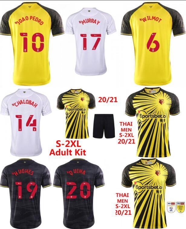 2020 2021 Joao Pedro Watford футбол для футбола FC 20 21 Home Yellow I.Sarr Deeney Cleverley James Garner Men Kits Kits Футбольная рубашка