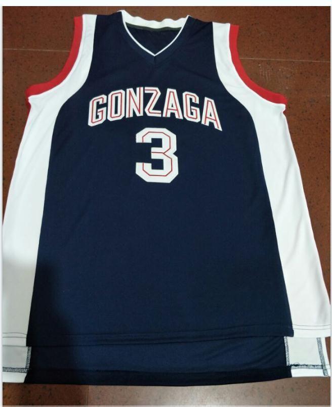 Редкие пользовательские мужчины молодежь женщины редкие гонзага бульдоги # 3 Adam Morrison College Basketball Jersey Size S-6XL или пользовательское любое имя или номер Джерси