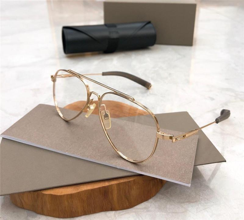 DLX101 New Men and Women Classic optical glasses oval Titanium Plank frame goggles simple atmosphere style glasses hot sale with watch case