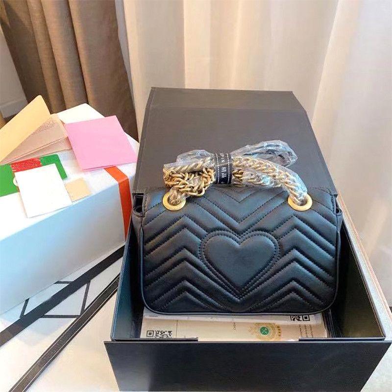 Sac à main de Messenger de luxe Marmont Messenger avec boutons d'ondulation de diamants Body Body Body Sacs de mode 2021 Sacs à bandoulière Nouveau