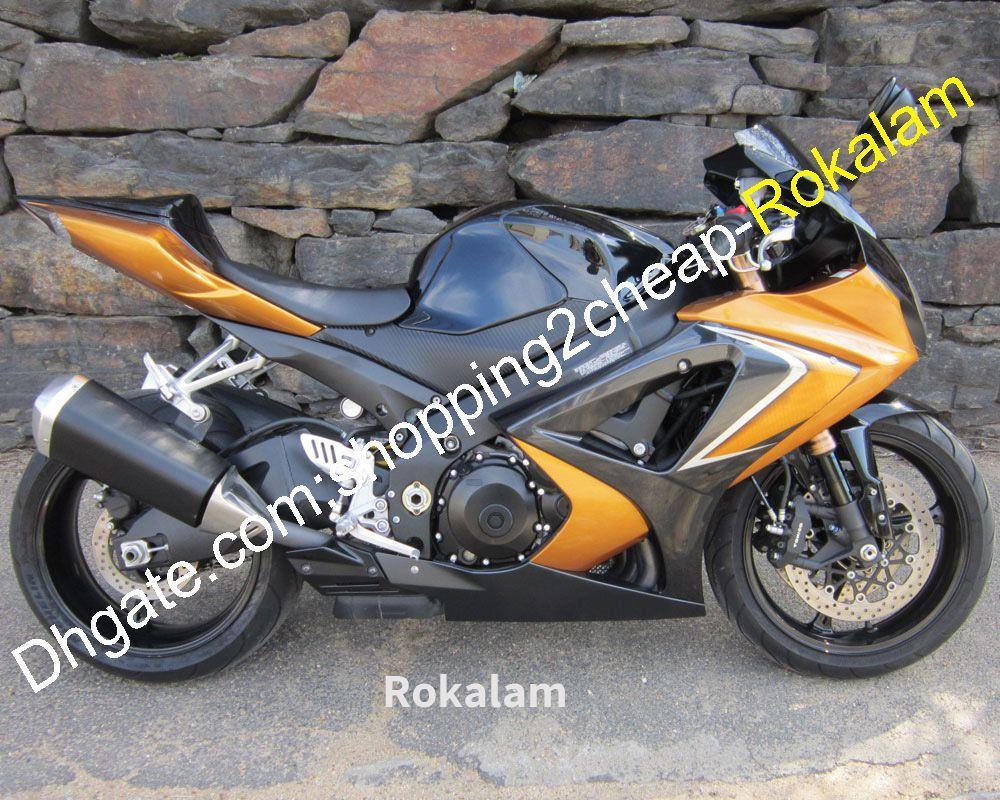 Kits de carenado ABS para Suzuki K7 GSXR GSX-R 1000 2007 2008 GSXR1000 GSX R1000 07 08 Glod Black Motorcycle Juego de carenados (moldeo por inyección)