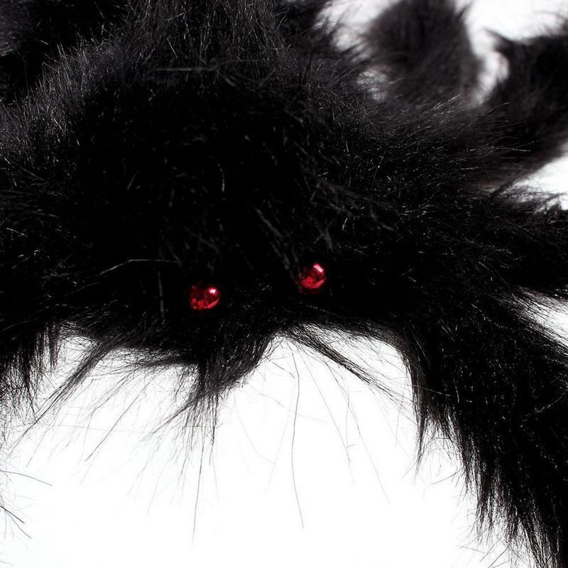 30/50 / 75cm Noir Big Halloween Peluche Spider Jouets pour enfants Peluche Noir Multicolore Style Party Halloween Décoration