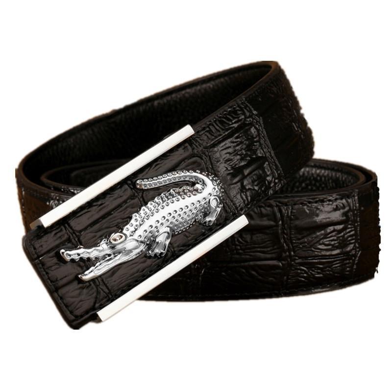 Krokodilschnalle Echtes Leder Krokodil Business Herren Gürtel Luxus Gürtel Für Männer Hohe Qualität Gürtel