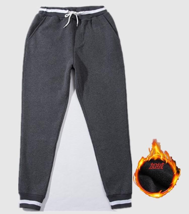 Sonbahar Yeni Sweatpants erkek Streetwear Moda Polar Erkekler için Tam Boy İpli Pantolon Rahat Pantolon