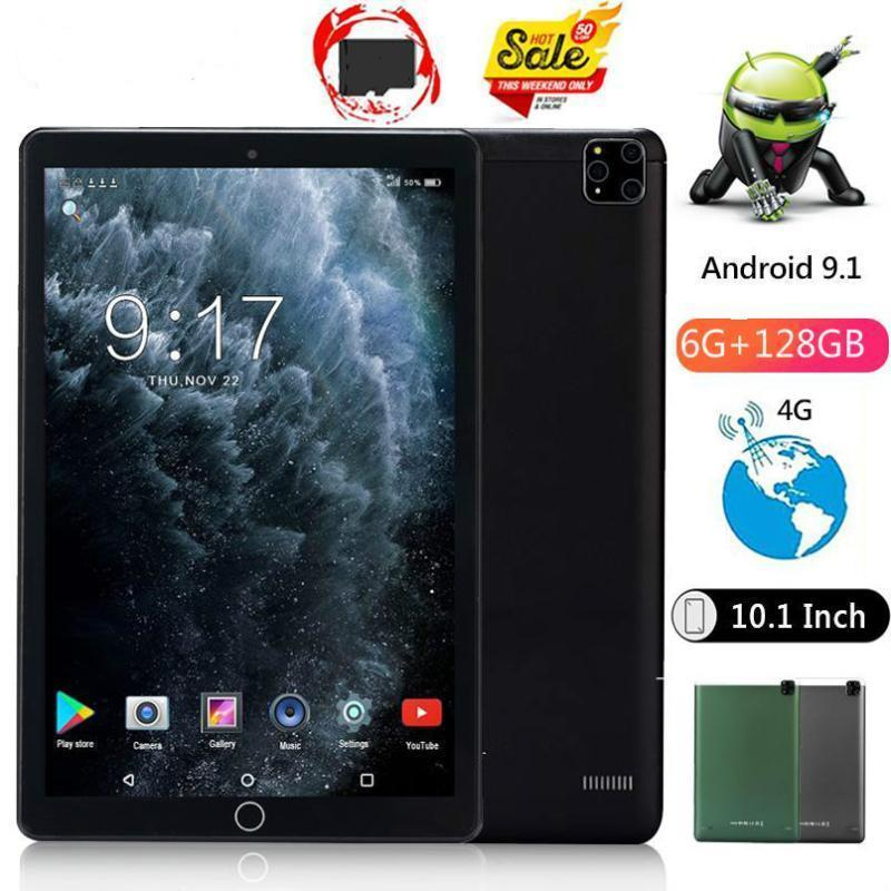 Tablet PC 2021 10.1 Inch Android 9.0 10 RAM 6GB+128GB ROM 1280x800 HD IPS Screen WiFi GPS Media Pad 4G Phablet Youtube1