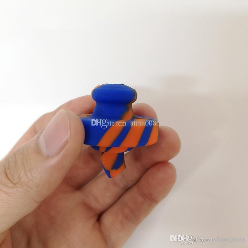 Силиконовые кварцевые Banger Nails Carb Cap Смешанные цвета с 4 стилями пищевой сорт для курения