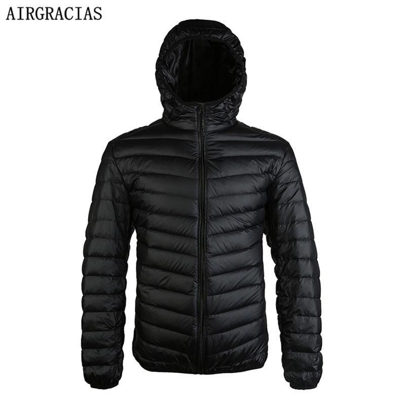 Airgracias Yeni Gelmesi 90% Beyaz Ördek Aşağı Ceket Erkekler Sonbahar Kış Sıcak Ceket erkek Işık Ince Ördek Aşağı Ceket Palto LJ200918