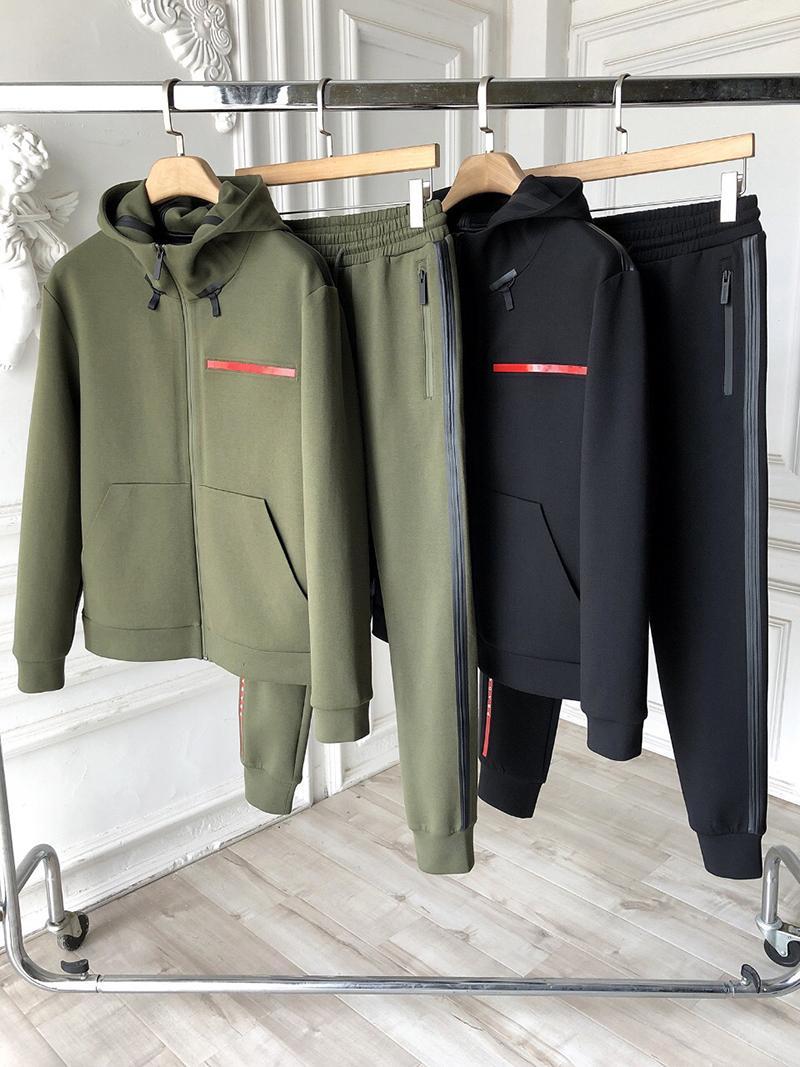 2021 otoño invierno de lujo diseño de calidad clásico hombre deporte s-xxl casual conjunto de dos piezas A1112
