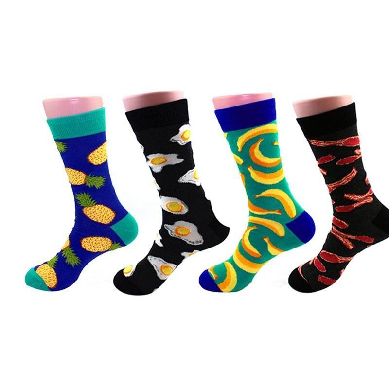 Chaussettes de planche à roulettes de skateboard pour hommes chaussettes colorées drôle HIP HOP HOP Coloré Knit Yin and Yang Casual