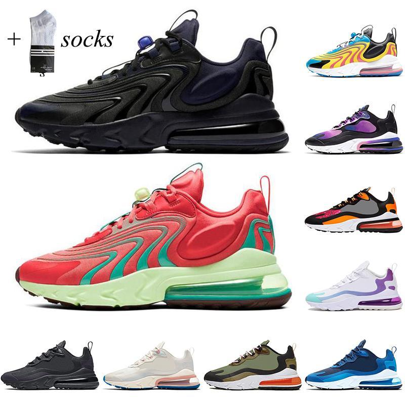 REACT Koşu Ayakkabıları Erkekler Için Tepki Kadınlar En Kaliteli Bauhaus Optik Beyaz Kırmızı Koşu Nefes Mens Eğitmenler Spor Sneaker Çorap ile