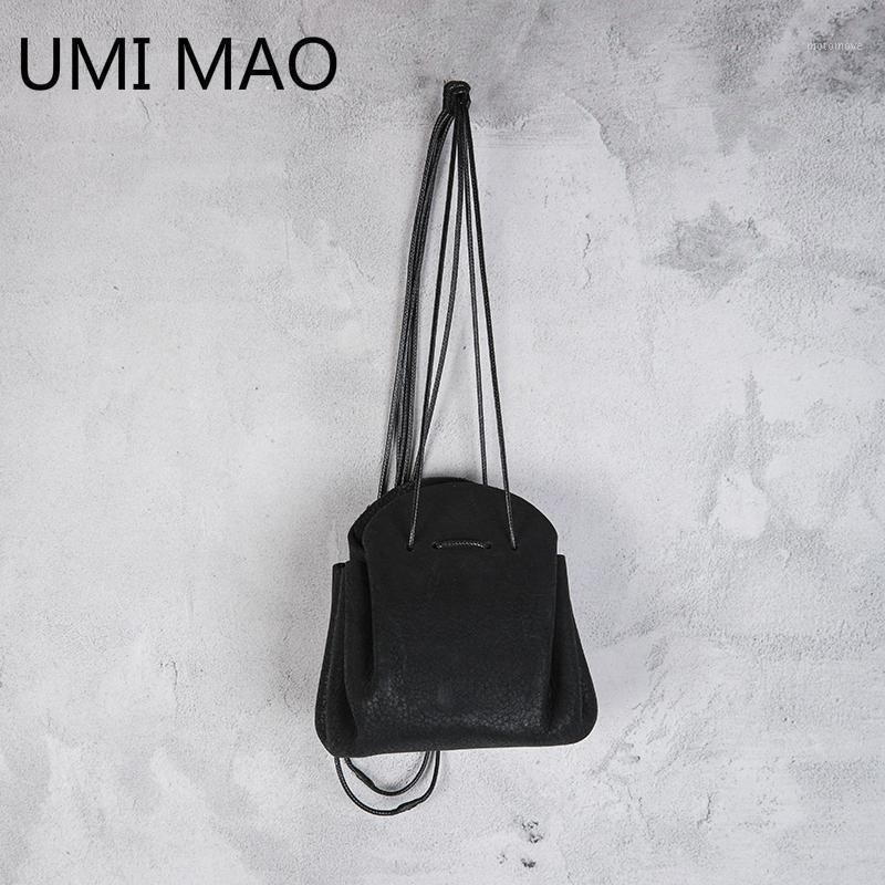 العلاقات الرقبة أومي ماو الأصلي الظلام أضعاف تصميم جلد البقر عملة مصغرة الديكور Yamamoto الرياح حقيبة قطري 2021 1