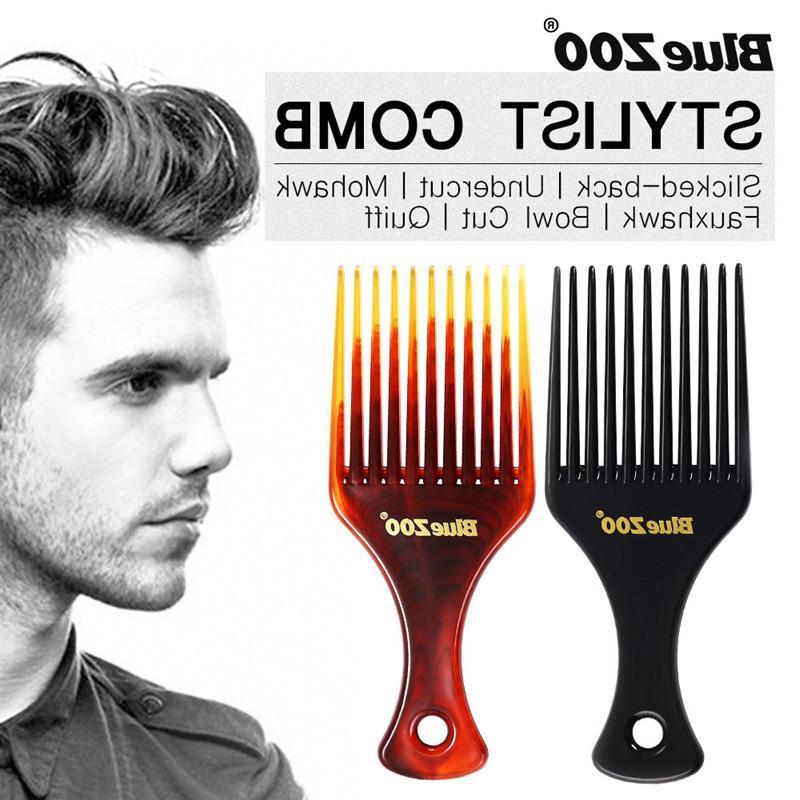 Männer Haarkamm einsetzen Afro Haaraufnahme Kamm Gabel Kamm Öl Slick Styling Haarbürste Friseur Zubehör